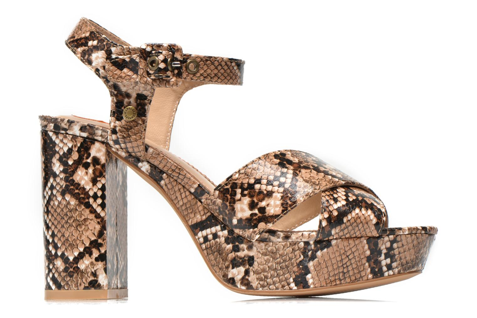 Sandals Pepe jeans Grace animal Beige back view