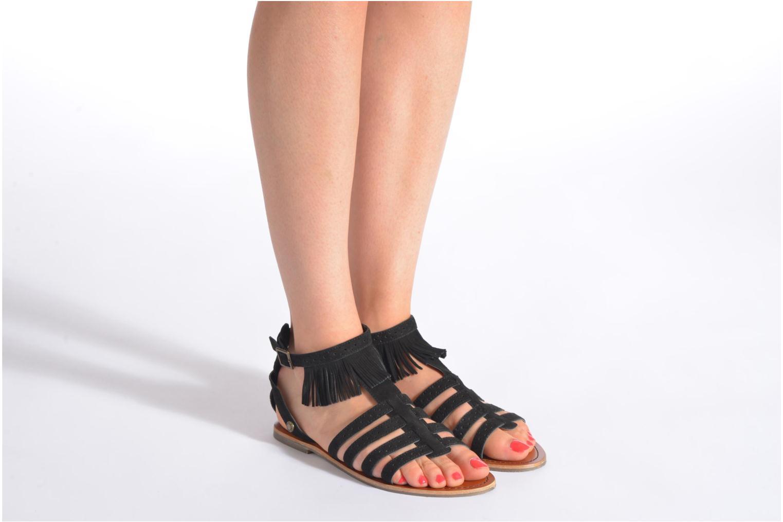 Sandalias Pepe jeans Jane fringes Negro vista de abajo