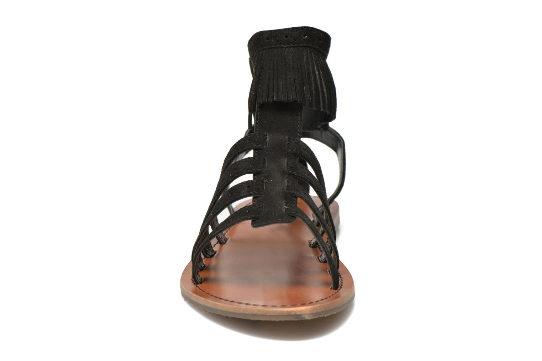 Sandalias Pepe jeans Jane fringes Negro vista del modelo