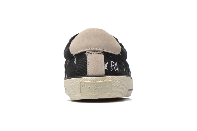 Baskets Pepe jeans Serthi birds Noir vue droite