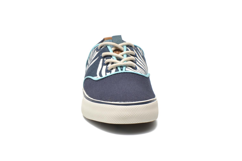 Baskets Pepe jeans Traveler skate Bleu vue portées chaussures