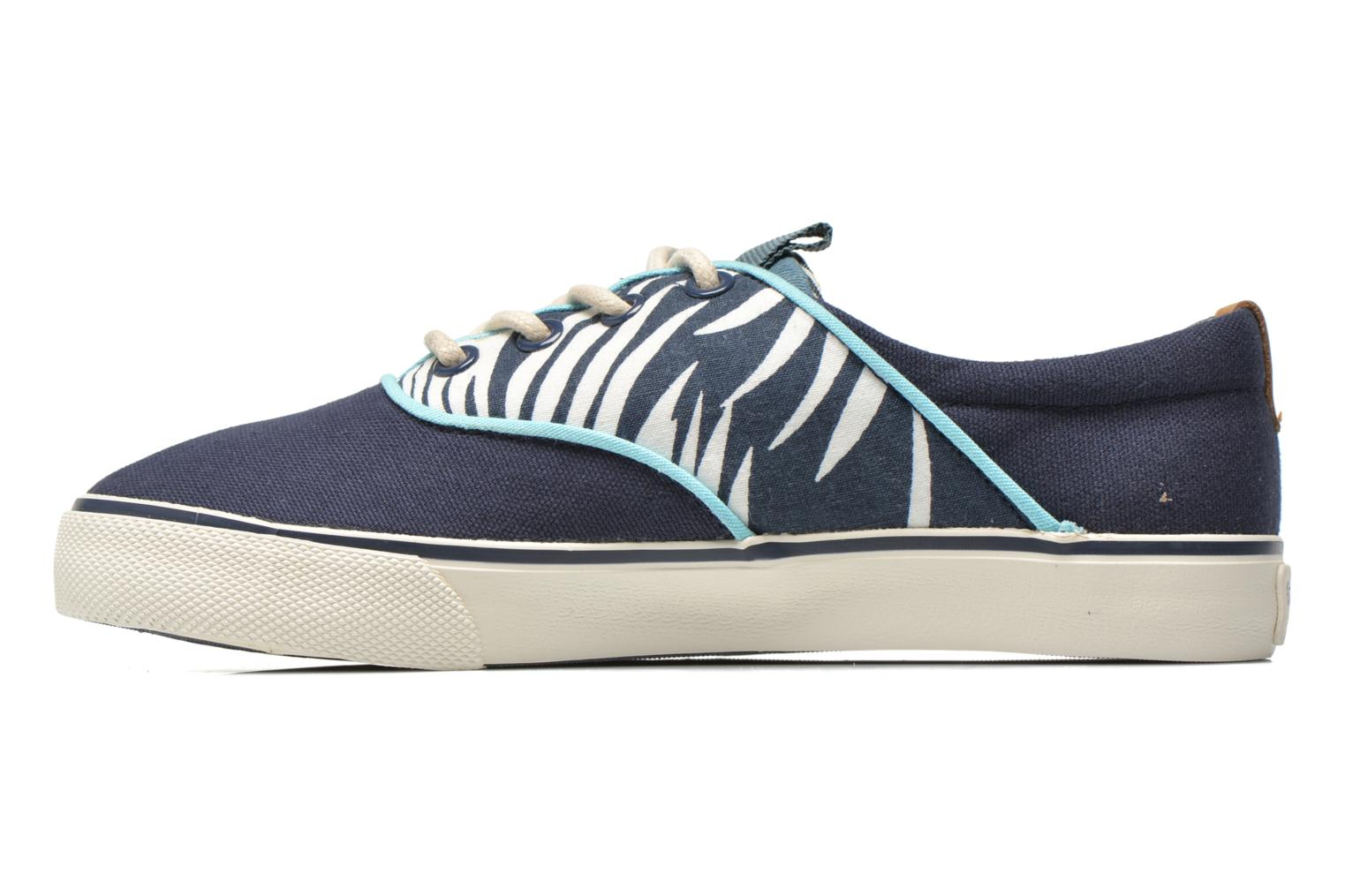 Trainers Pepe jeans Traveler skate Blue front view