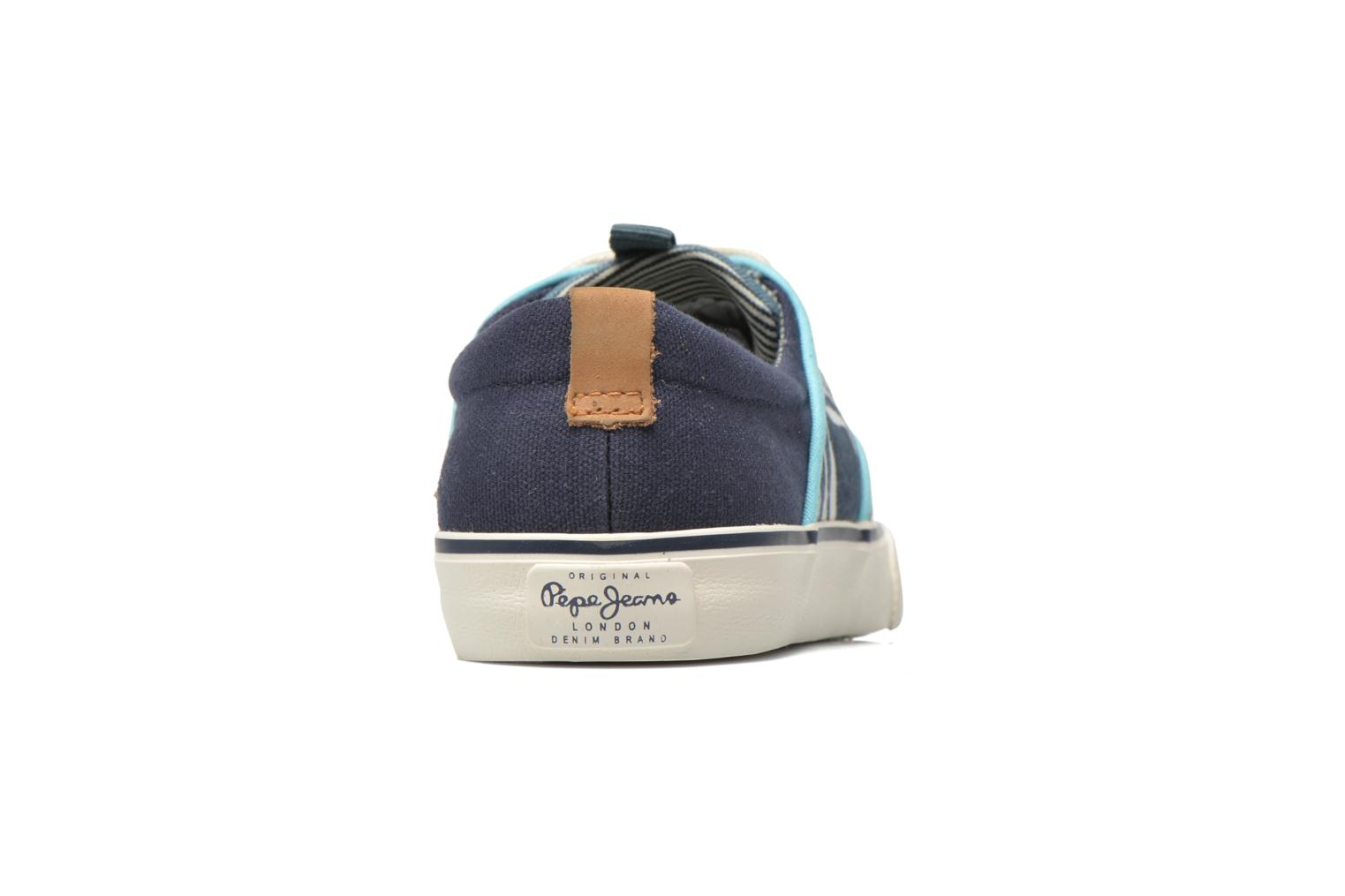 Trainers Pepe jeans Traveler skate Blue view from the right