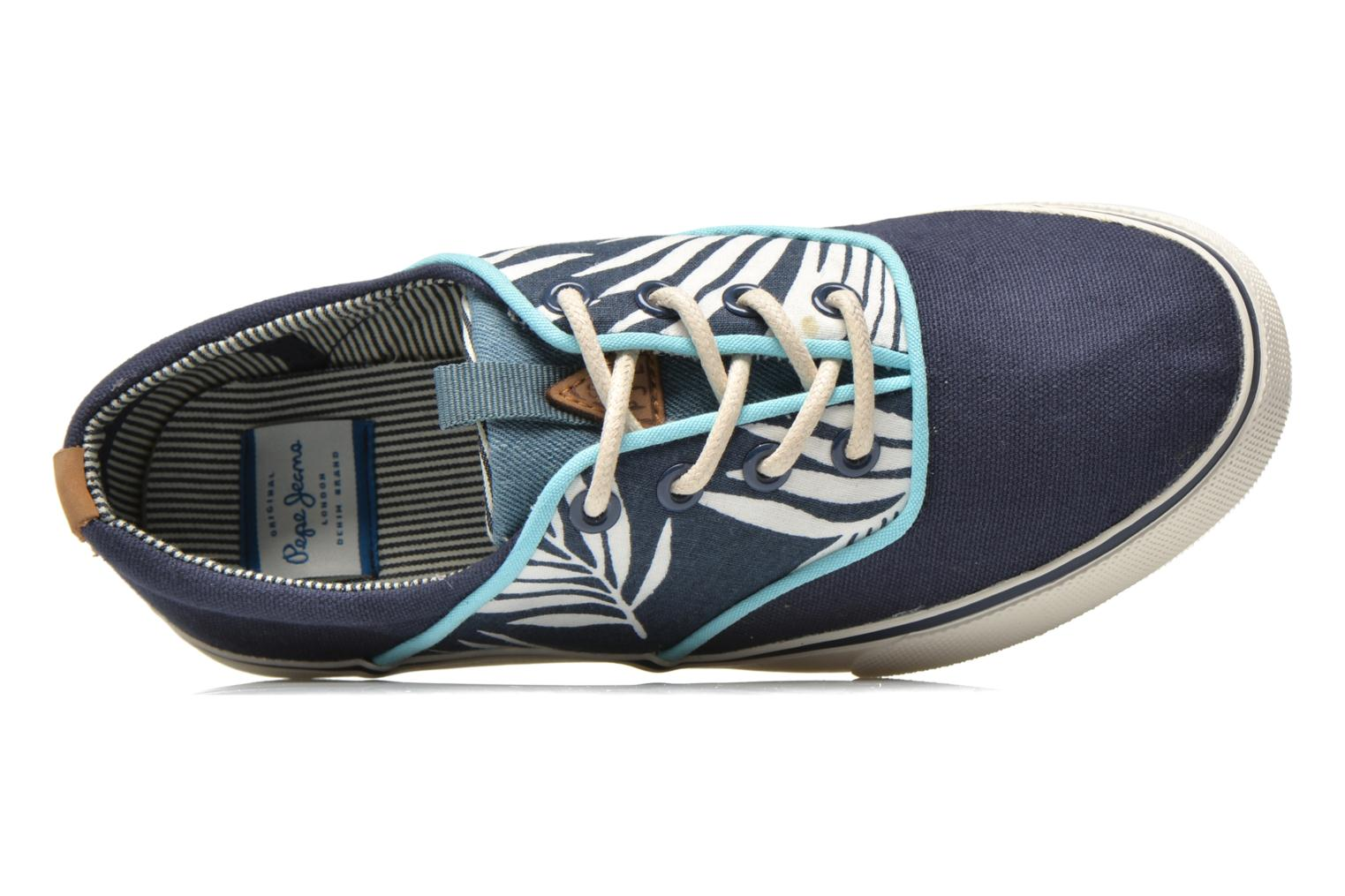 Trainers Pepe jeans Traveler skate Blue view from the left
