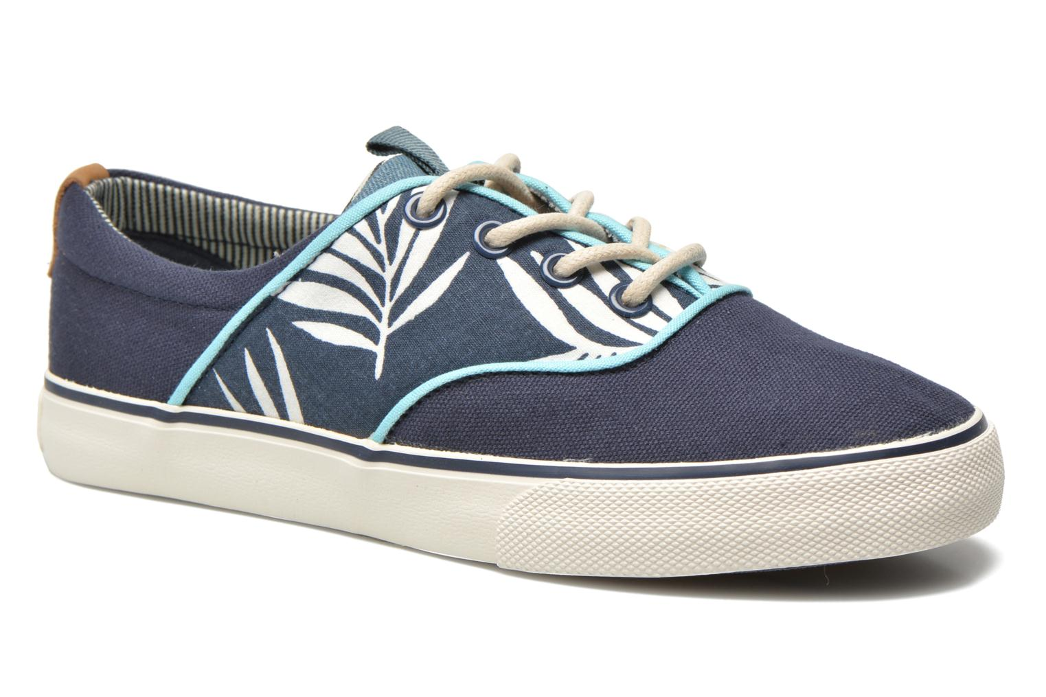 Trainers Pepe jeans Traveler skate Blue detailed view/ Pair view