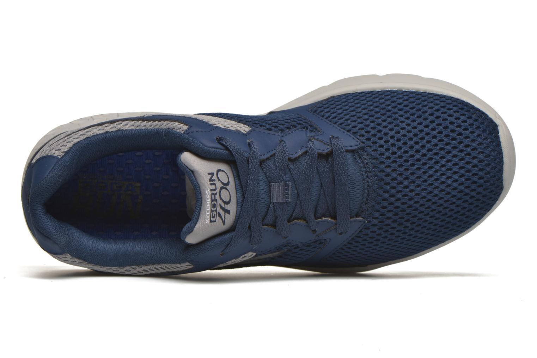 Chaussures de sport Skechers Go run 400 Bleu vue gauche