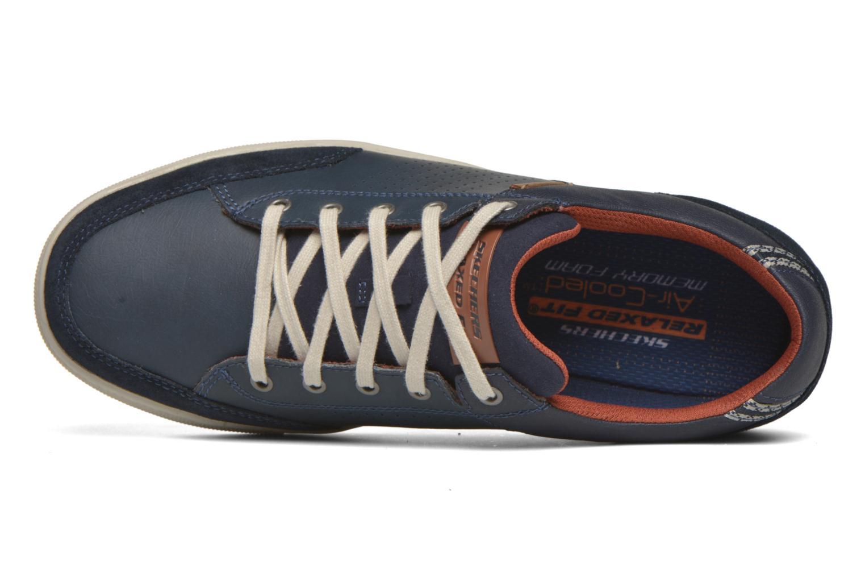 Baskets Skechers Elvino- Lemen Bleu vue gauche