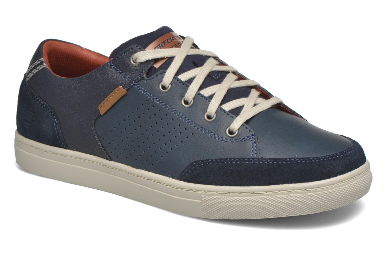 Baskets Skechers Elvino- Lemen Bleu vue détail/paire
