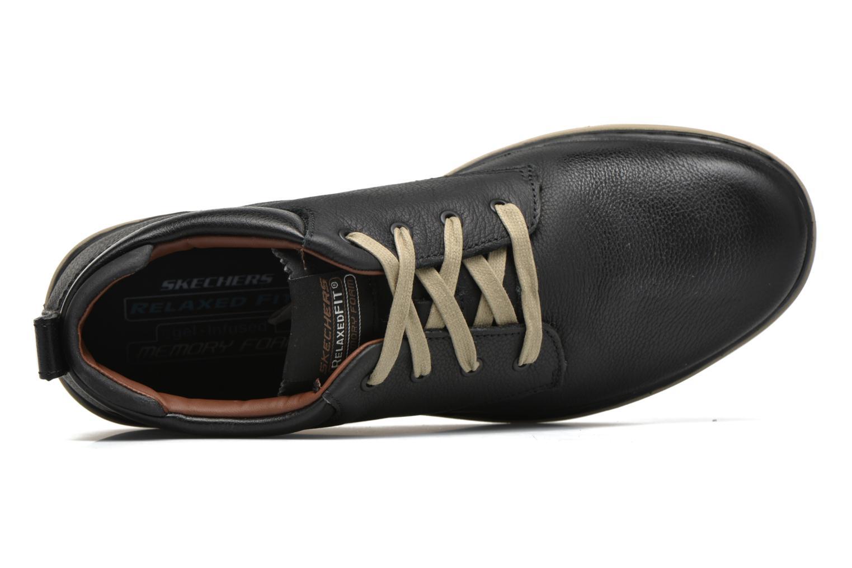 Chaussures à lacets Skechers Palen Noir vue gauche