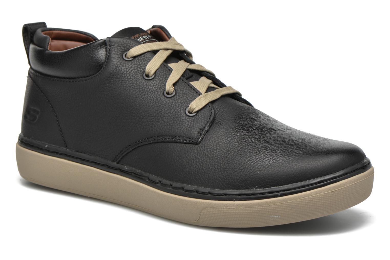 Chaussures à lacets Skechers Palen Noir vue détail/paire
