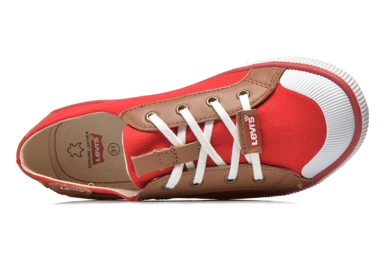 Sneakers Levi's Goalkin Rosso immagine sinistra