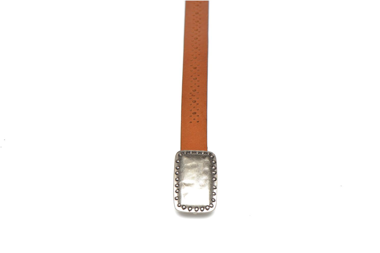 Belts Bensimon Ceinture perforée cuir 1 Brown model view