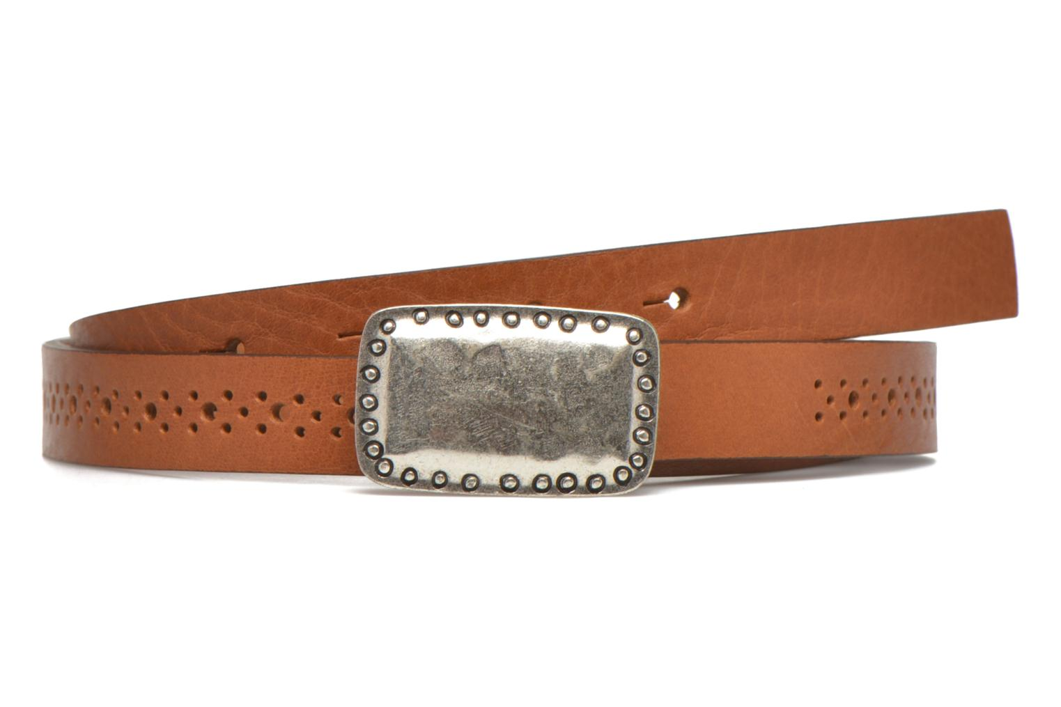 Belts Bensimon Ceinture perforée cuir 1 Brown detailed view/ Pair view