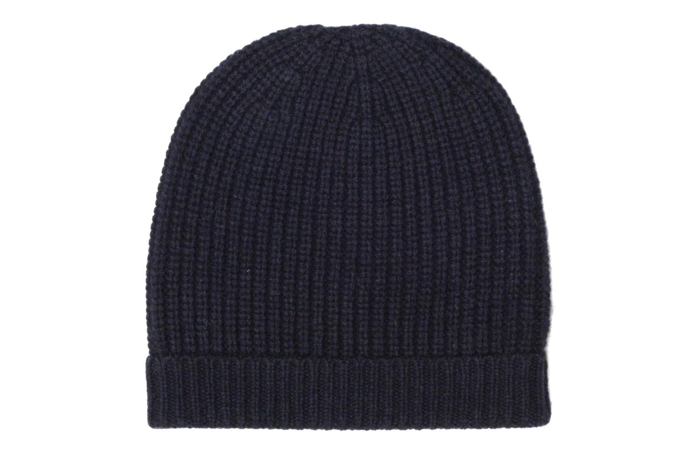 Bonnet tricoté laine cachemire Marine