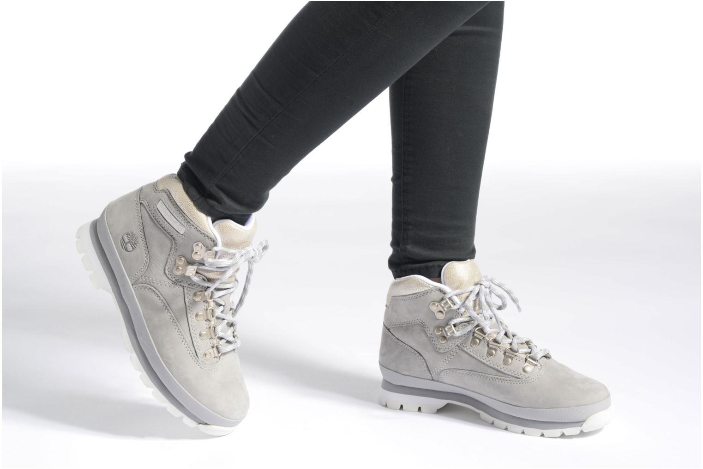 Chaussures à lacets Timberland Euro Hiker Leather Rose vue bas / vue portée sac