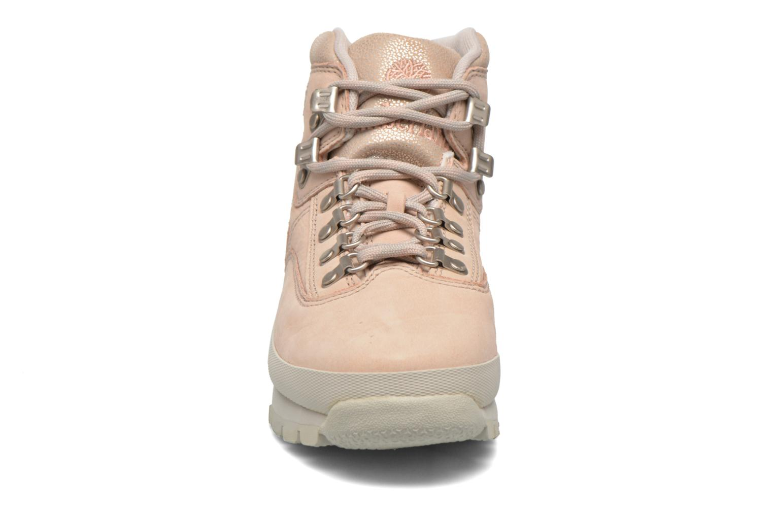 Chaussures à lacets Timberland Euro Hiker Leather Rose vue portées chaussures