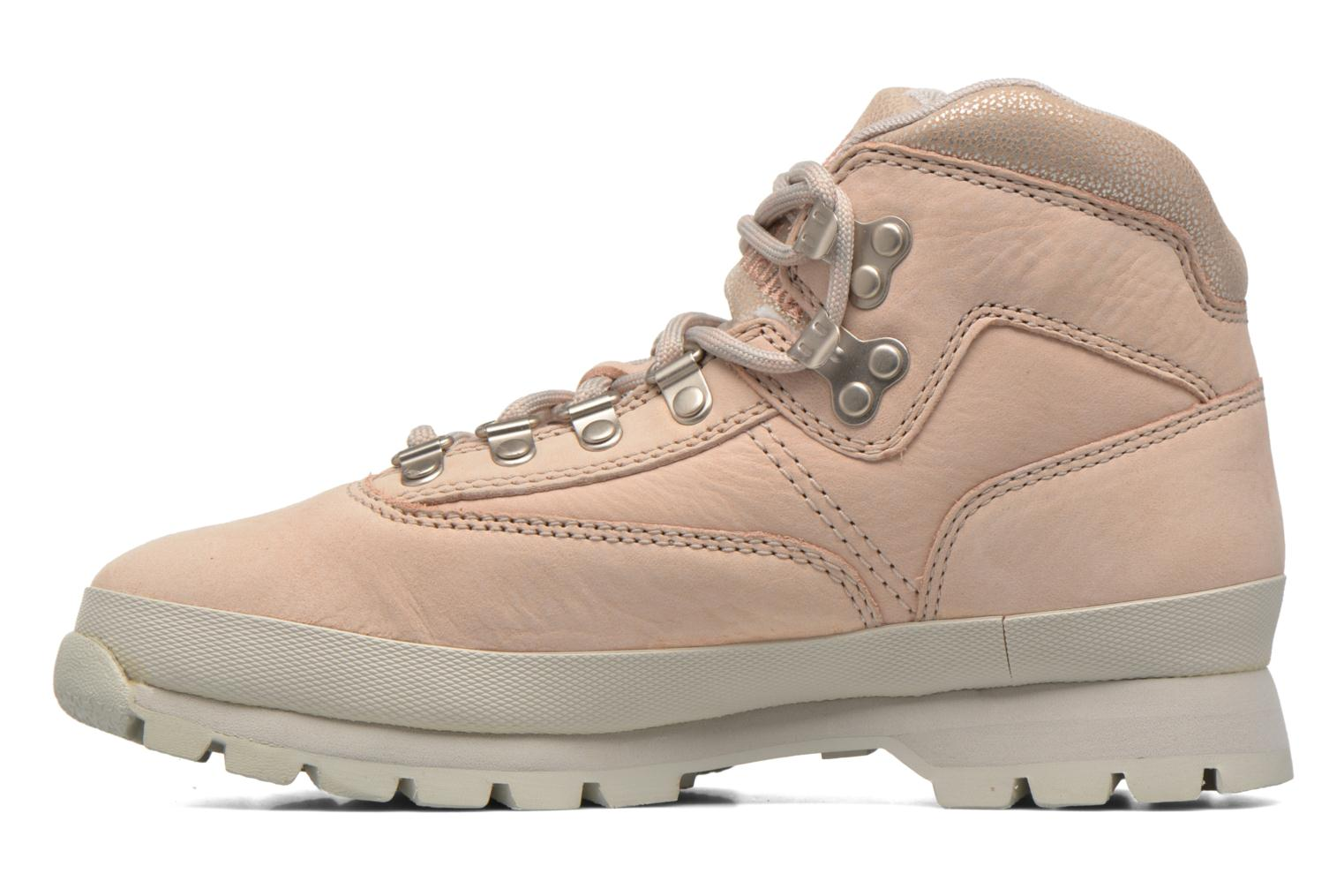 Chaussures à lacets Timberland Euro Hiker Leather Rose vue face