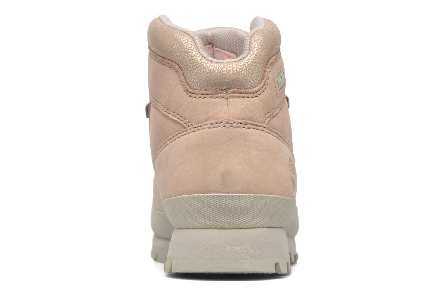 Chaussures à lacets Timberland Euro Hiker Leather Rose vue droite