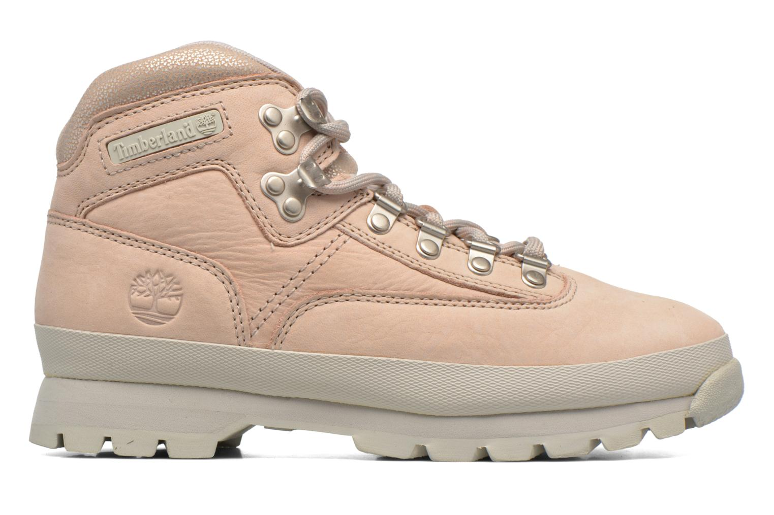 Zapatos con cordones Timberland Euro Hiker Leather Rosa vistra trasera