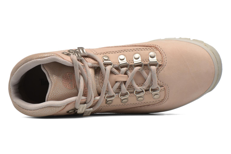 Zapatos con cordones Timberland Euro Hiker Leather Rosa vista lateral izquierda