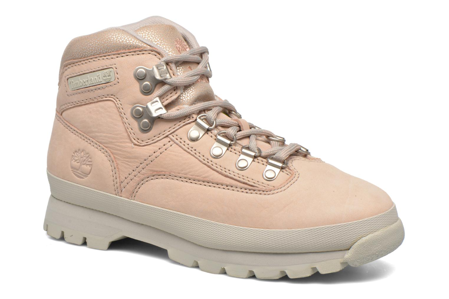 Chaussures à lacets Timberland Euro Hiker Leather Rose vue détail/paire