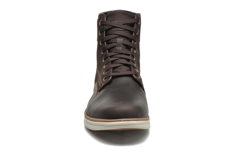 Schnürschuhe Timberland Bradstreet Boot braun schuhe getragen