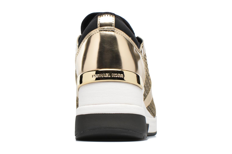 Baskets Michael Michael Kors Scout Trainer Or et bronze vue droite