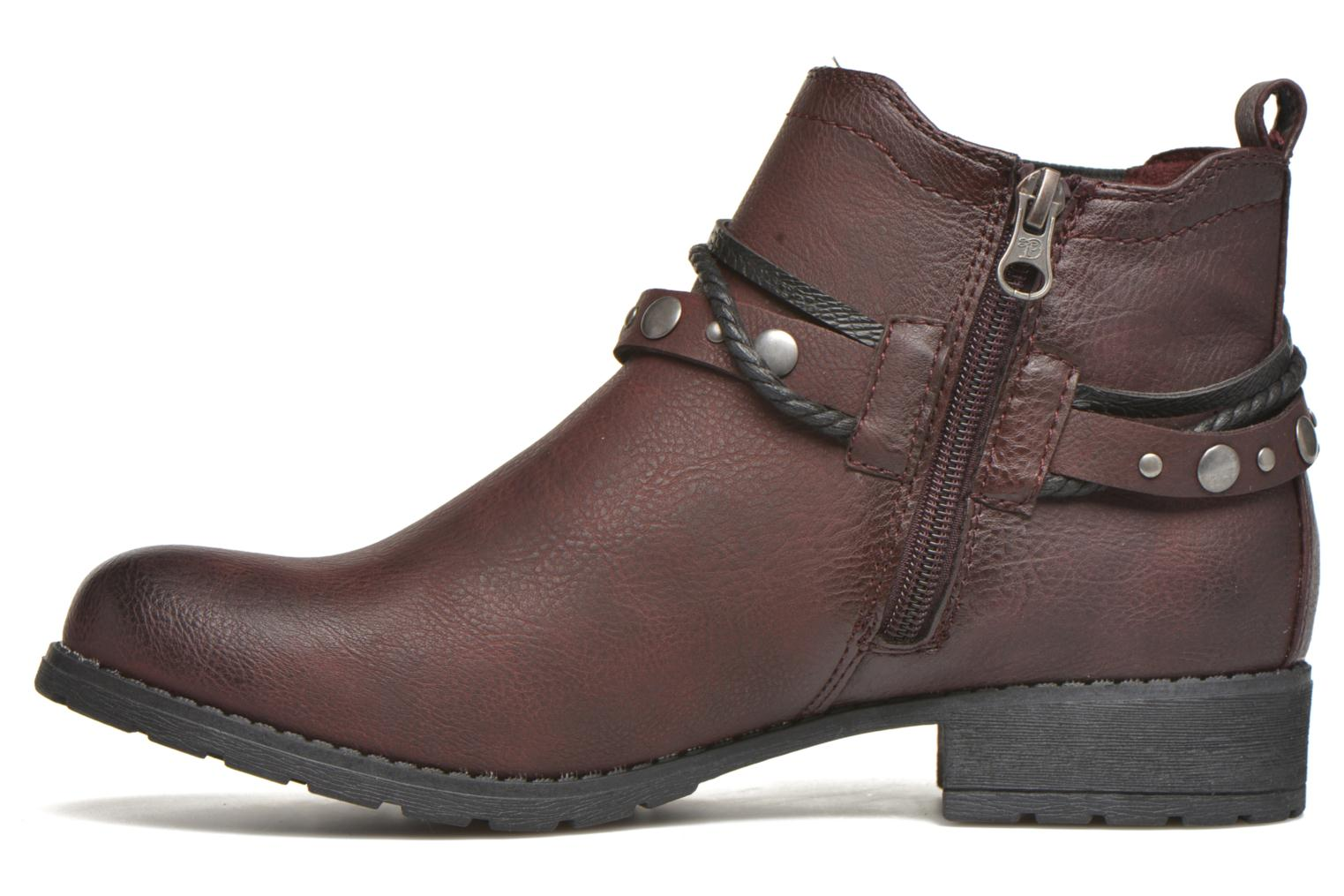 Ankle boots Tom Tailor Pauline Burgundy front view