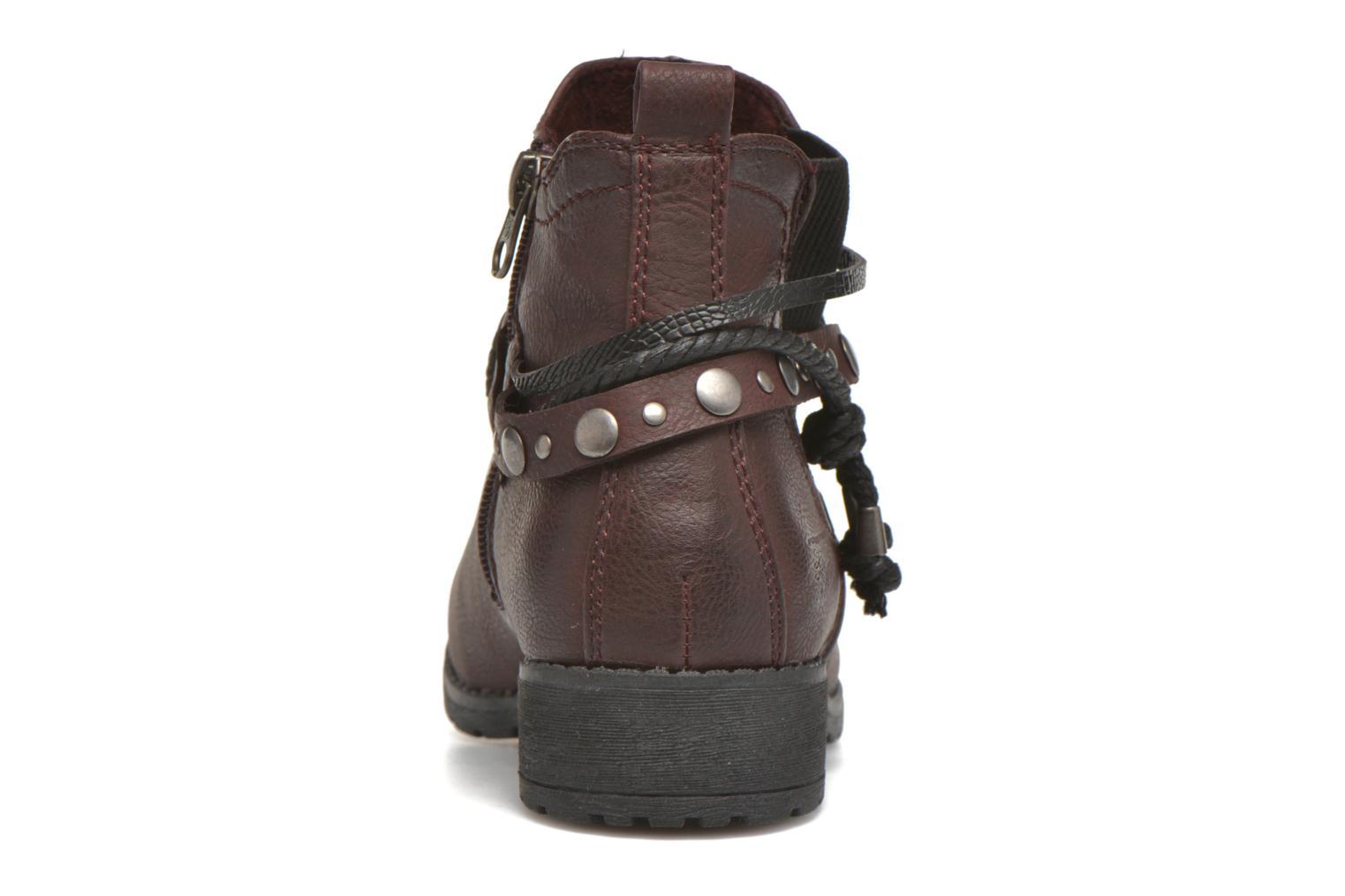 Ankle boots Tom Tailor Pauline Burgundy view from the right