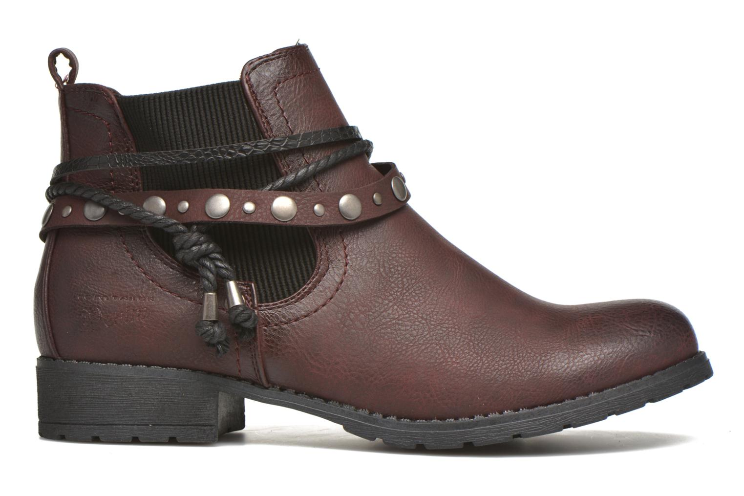 Ankle boots Tom Tailor Pauline Burgundy back view