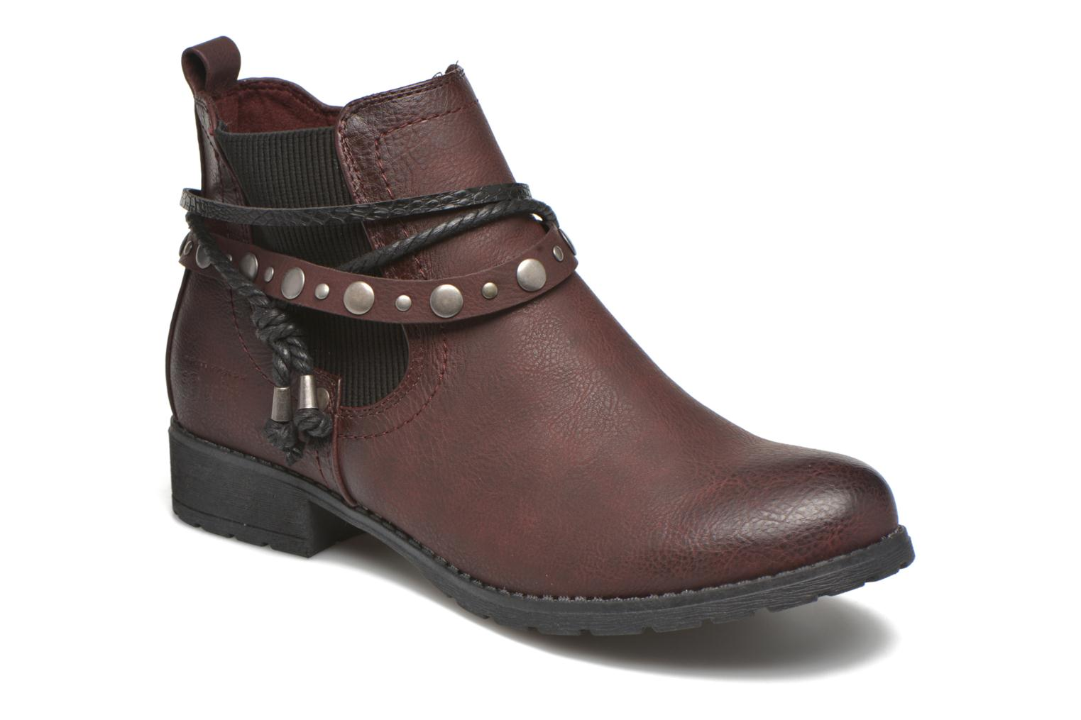 Ankle boots Tom Tailor Pauline Burgundy detailed view/ Pair view