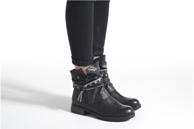 Bottines et boots Tom Tailor Laure Bordeaux vue bas / vue portée sac