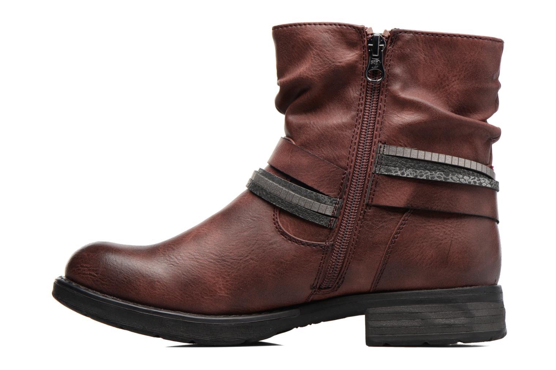 Bottines et boots Tom Tailor Laure Bordeaux vue face