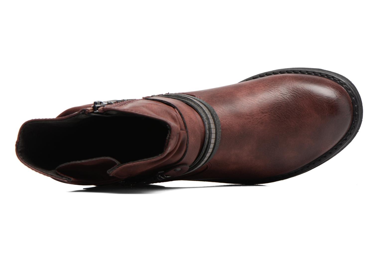 Bottines et boots Tom Tailor Laure Bordeaux vue gauche