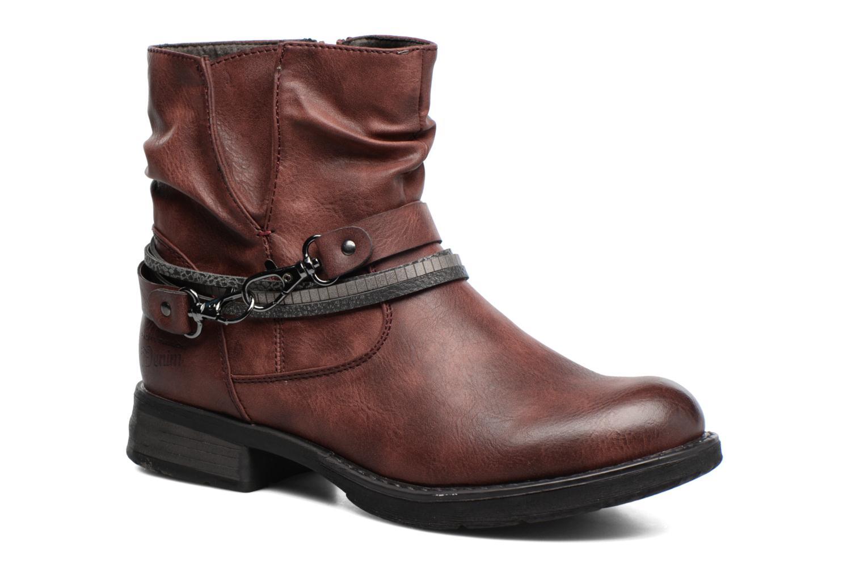 Bottines et boots Tom Tailor Laure Bordeaux vue détail/paire