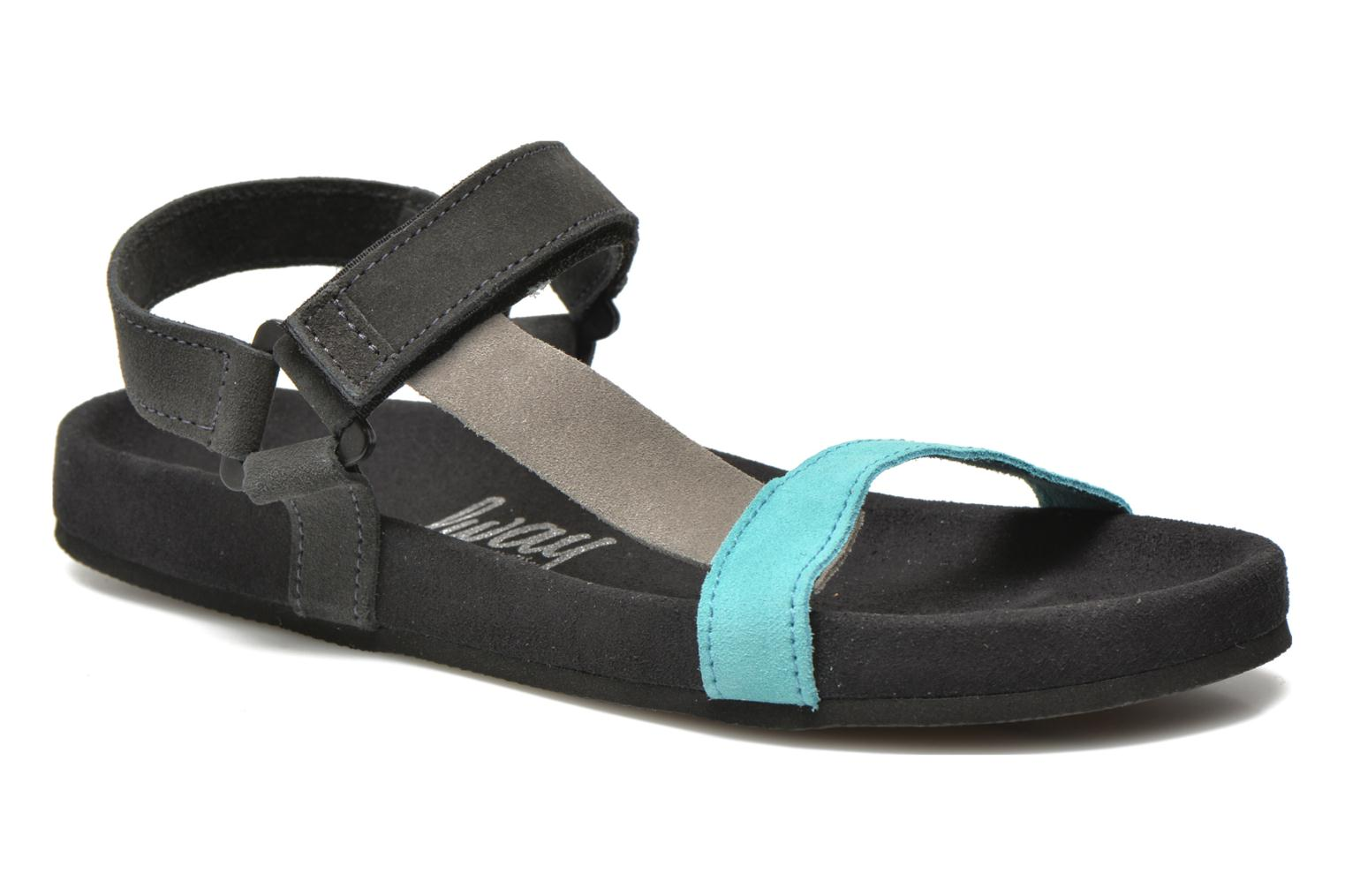 Sandals Coolway Salto Black detailed view/ Pair view