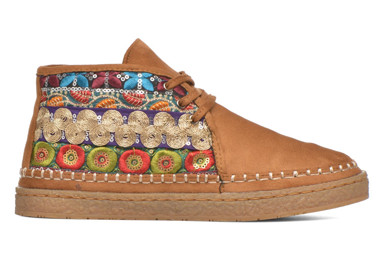 Chaussures à lacets Eclipse Zora Jaune vue derrière