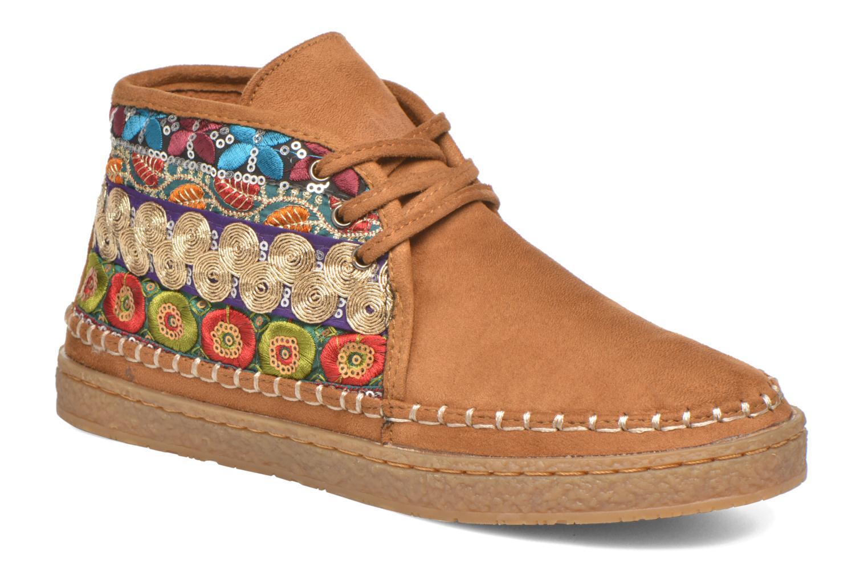 Chaussures à lacets Eclipse Zora Jaune vue détail/paire