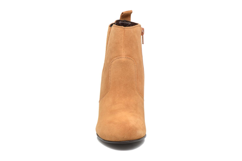 Bottines et boots Vero Moda Lone Leather Wedge Boot Marron vue portées chaussures