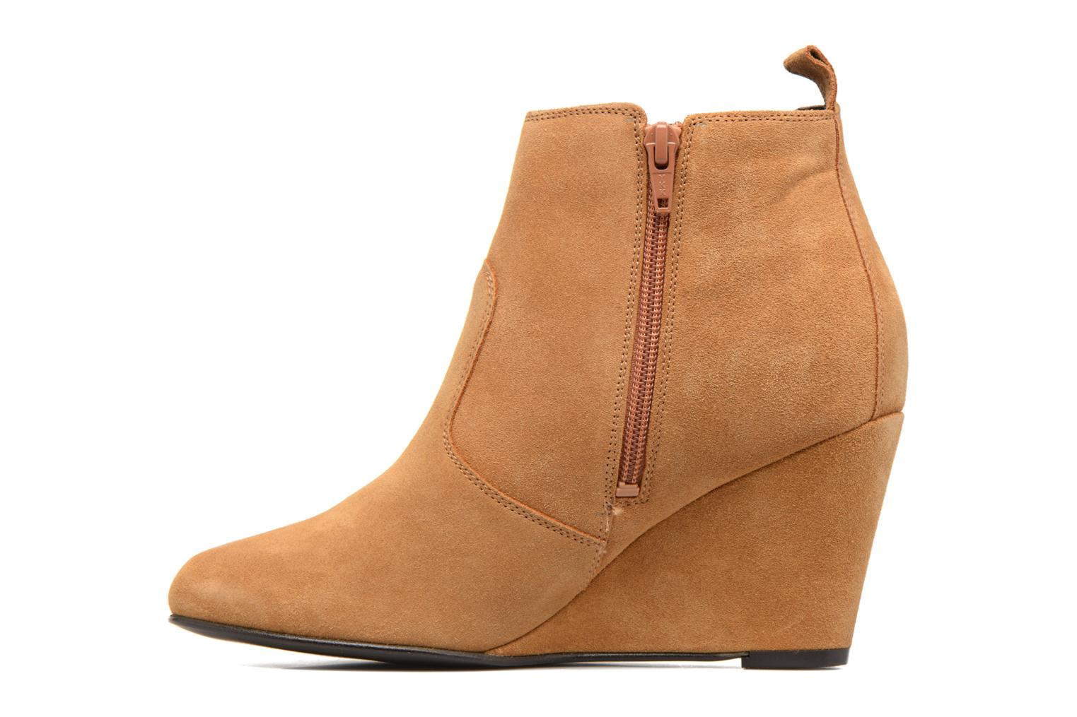 Lone Leather Wedge Boot Cognac