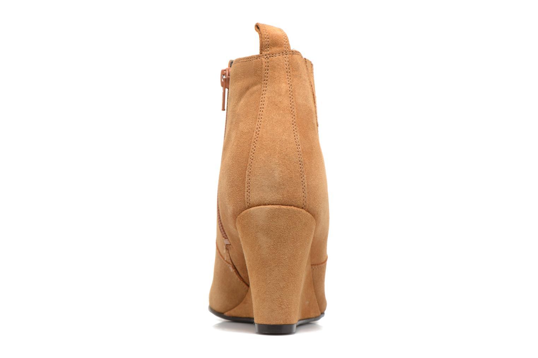 Botines  Vero Moda Lone Leather Wedge Boot Marrón vista lateral derecha