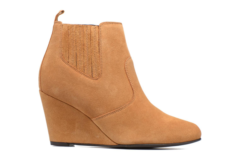 Bottines et boots Vero Moda Lone Leather Wedge Boot Marron vue derrière