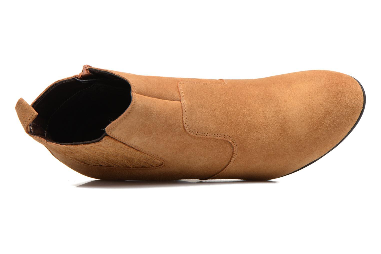 Bottines et boots Vero Moda Lone Leather Wedge Boot Marron vue gauche