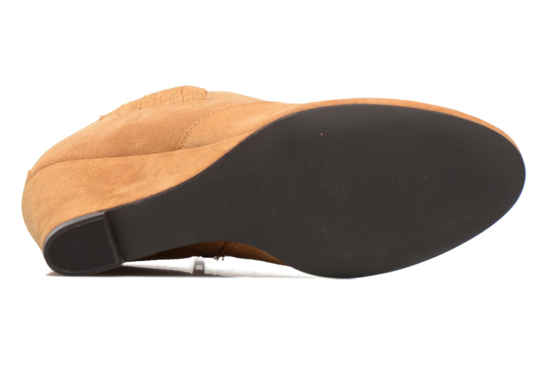 Bottines et boots Vero Moda Lone Leather Wedge Boot Marron vue haut