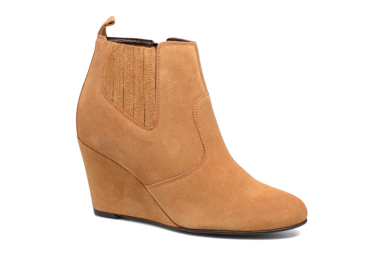 Bottines et boots Vero Moda Lone Leather Wedge Boot Marron vue détail/paire