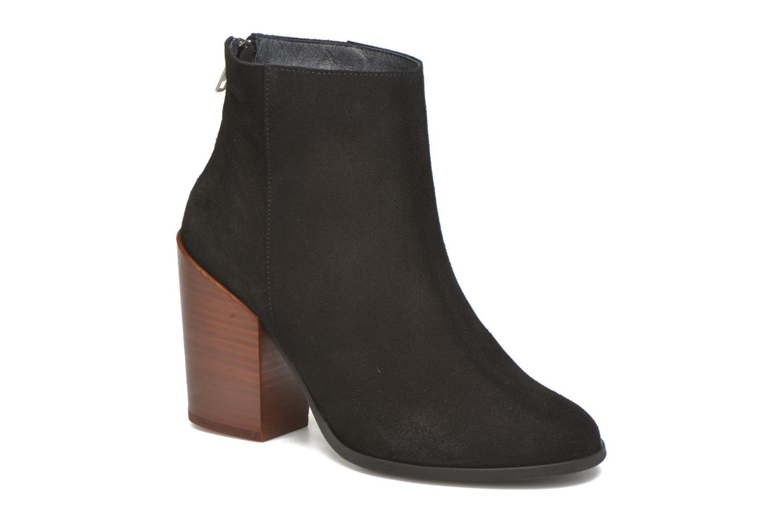Dorthe Leather Boot Black & Brown Heel