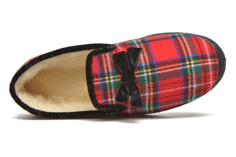 Pantuflas Rondinaud Drancy Rojo vista lateral izquierda