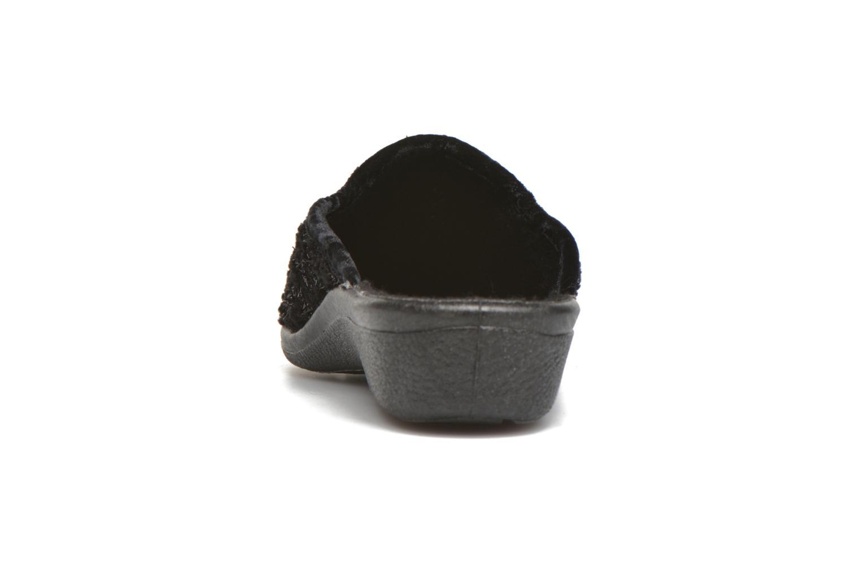 Hausschuhe Rondinaud Espirat schwarz ansicht von rechts