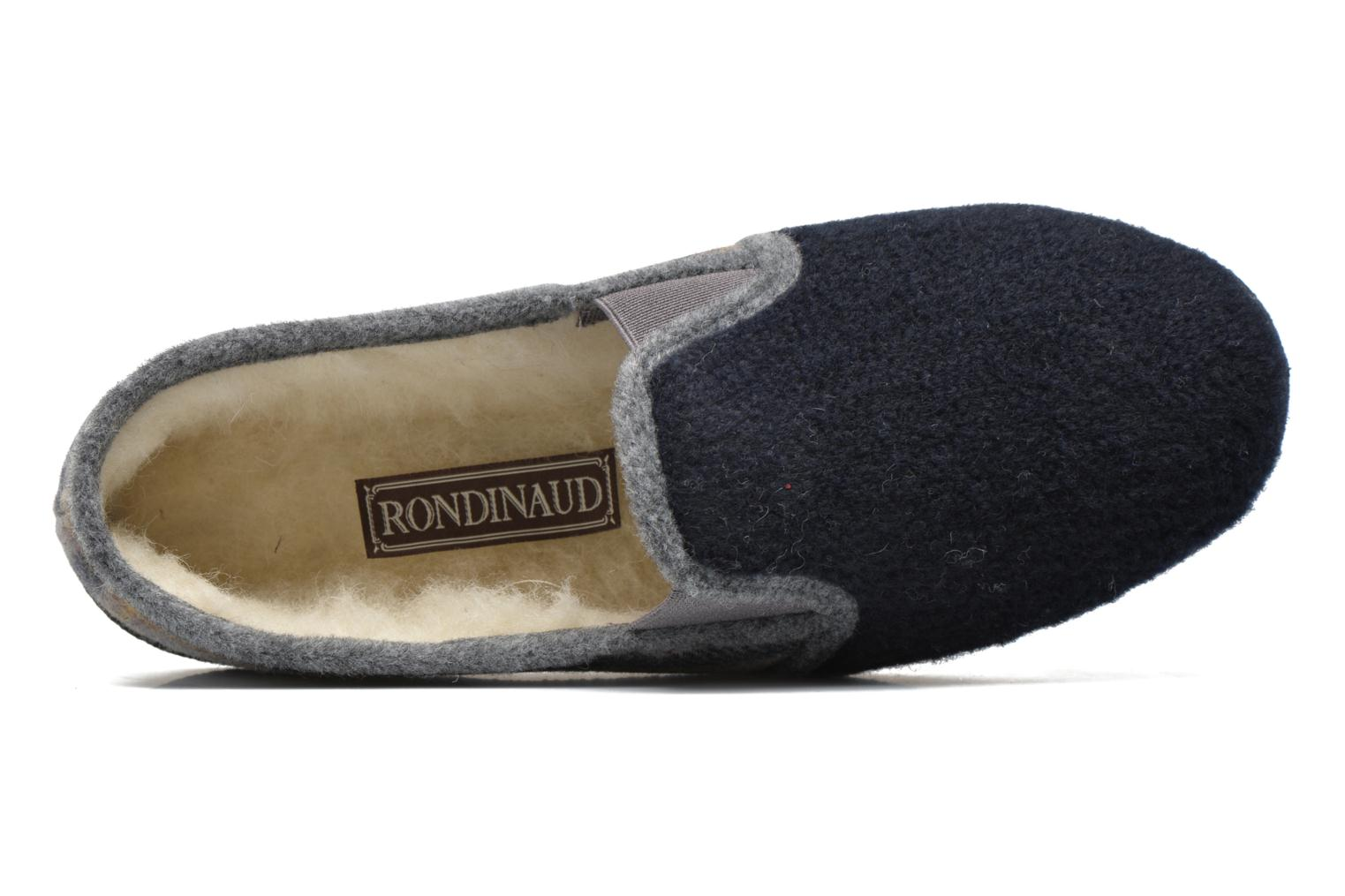 Slippers Rondinaud Douvres Blue view from the left