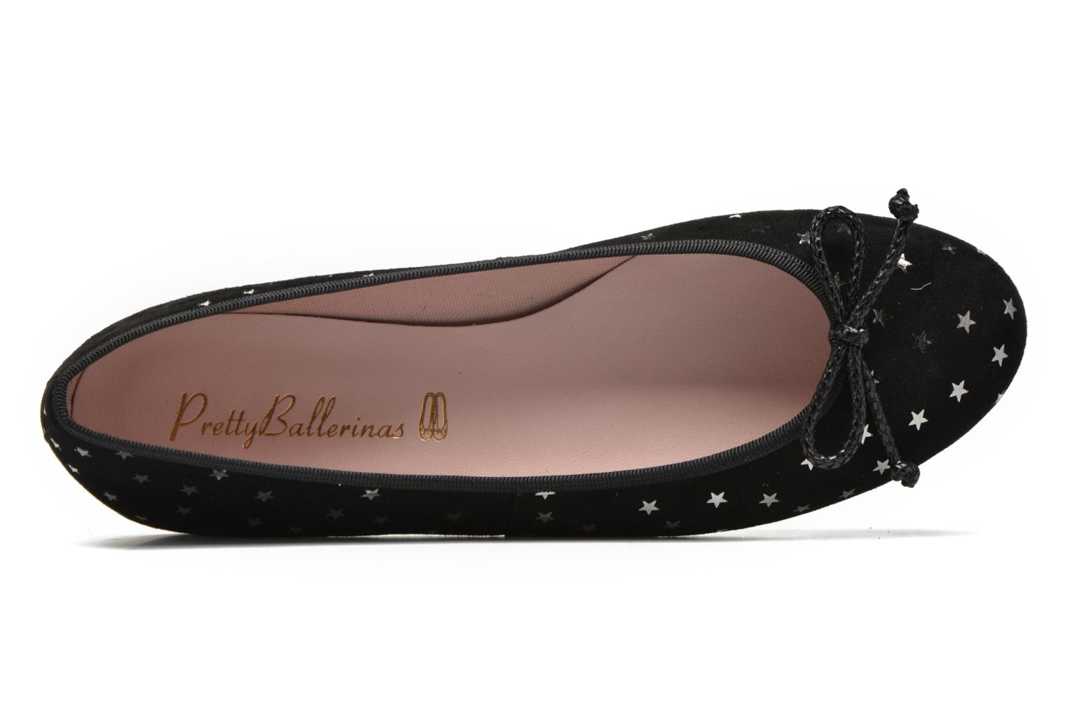 Ballet pumps Pretty Ballerinas Nicole Black view from the left